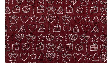 Dakls Ubrus Vánoční čas, 80 x 80 cm