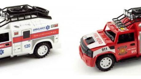 Auto hasiči nebo ambulance se světlem a zvukem