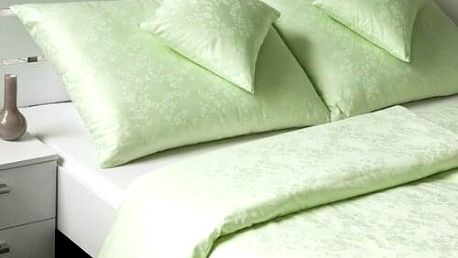 Veba Damaškové povlečení Bohema Svlačec zelená, 140 x 220 cm, 70 x 90 cm, 140 x 220 cm, 70 x 90 cm