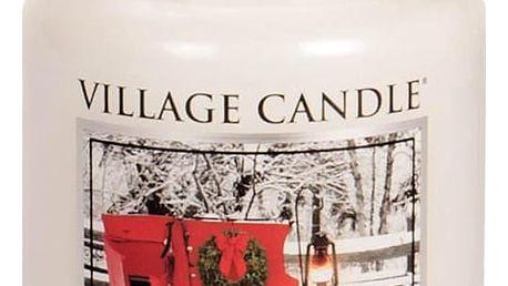 VILLAGE CANDLE Svíčka ve skle Sleigh Ride - velká, bílá barva, sklo, vosk