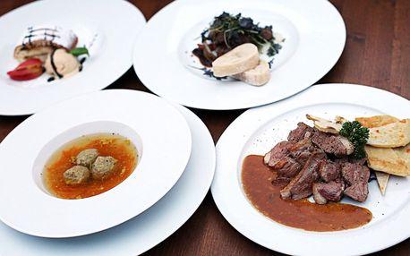 Degustační 4chodové menu i s vínem pro 2 osoby