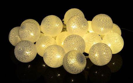 Nexos 39403 Vánoční dekorace - 20 ks světelných koulí - teple bílá 20 diod