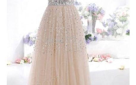 Dlouhé plesové šaty bez ramínek - 4 barvy