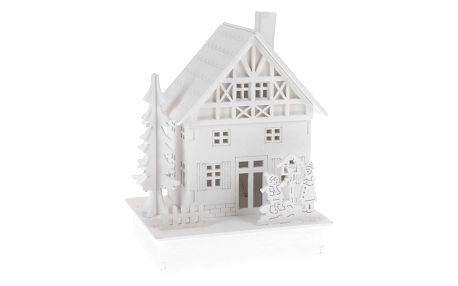 Dekorační LED domeček Family, 15 cm
