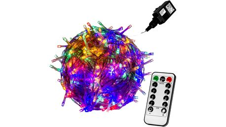 VOLTRONIC® 59752 Vánoční LED osvětlení 5 m - barevná 50 LED + ovladač