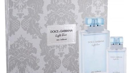 Dolce&Gabbana Light Blue Eau Intense dárková kazeta pro ženy parfémovaná voda 100 ml + parfémovaná voda 25 ml