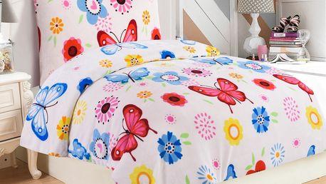 Jahu Povlečení mikroplyš Butterfly, 140 x 200 cm, 70 x 90 cm