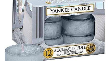 Yankee Candle Čajové svíčky Yankee Candle 12ks - A Calm & Quiet Place, modrá barva, vosk