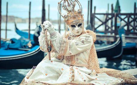 Proslulý karneval v romantických Benátkách ve 4 dnech s ubytováním a snídaní