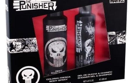 Marvel The Punisher dárková kazeta pro děti sprchový gel 200 ml + tělový sprej 200 ml