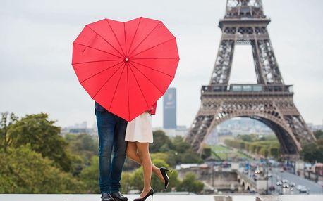 Valentýn: Paříž na 4 dny s ubytováním, snídaní a sektem do páru