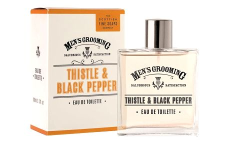 SCOTTISH FINE SOAPS Pánská toaletní voda Thistle & Black pepper 100 ml, oranžová barva, sklo, papír