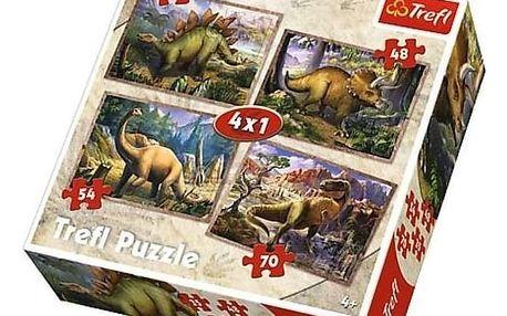 Trefl 34249 Dinosauři 4v1 35 48 54 70 dílků