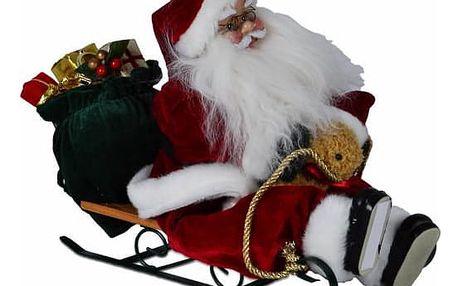 Nexos 5952 Vánoční dekorace - Santa Claus na saních