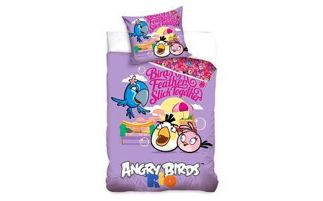 Tip Trade Dětské bavlněné povlečení Angry Birds Friends, 140 x 200 cm, 70 x 90 cm