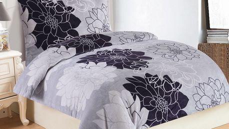 Jahu Povlečení mikroplyš Romance Lila, 140 x 200 cm, 70 x 90 cm