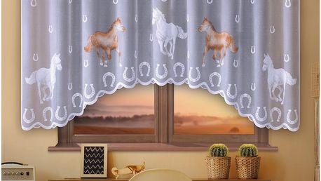 Forbyt Záclona Koně barevná, 300 x 150 cm
