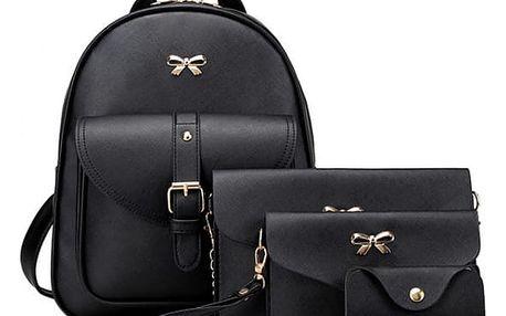 Sada batohu, kabelky a peněženek - černá barva - dodání do 2 dnů