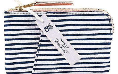 Busy B Mini peněženka na drobné Fashion, modrá barva, bílá barva, textil