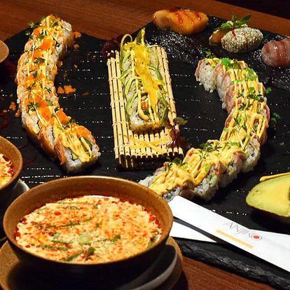 Vietnamské menu s polévkou a sushi pro 2 osoby
