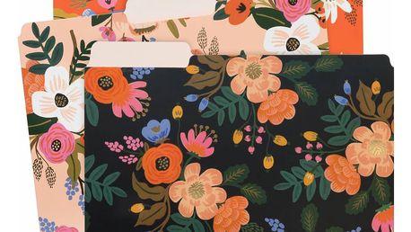 Rifle Paper Co. Papírové slohy Lively Floral - set 6 ks, červená barva, černá barva, multi barva, papír