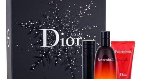 Christian Dior Fahrenheit dárková kazeta pro muže toaletní voda 100 ml + sprchový gel 50 ml + toaletní voda naplnitelná 10 ml