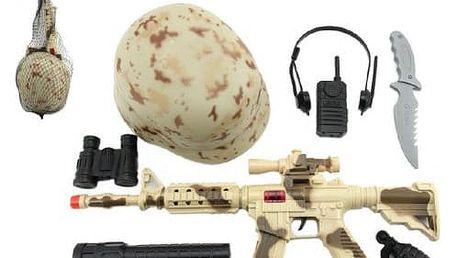 Dětská vojenská sada pro opravdového vojáka