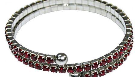 Modom Magnetický náramek s kamínky Stars, červená