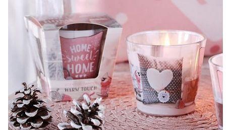 Dekorativní svíčka ve skle Sweet home
