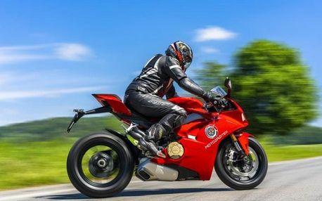 Jízda na motorce Ducati Panigale V4