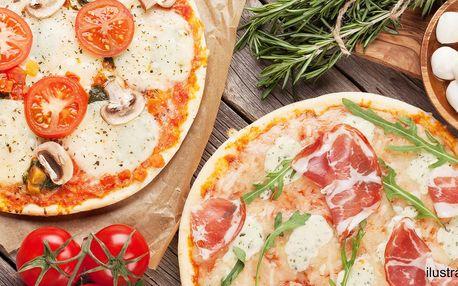 2 libovolné pizzy plné lahodných ingrediencí