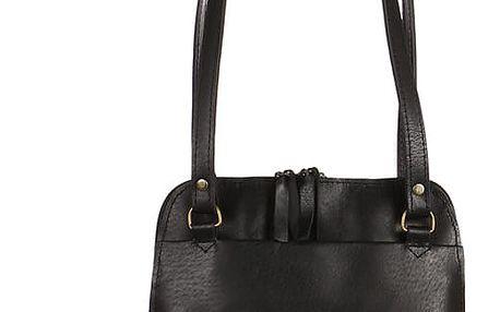 Batoh/kabelka 2v1 z pravé kůže - Česká výroba černá