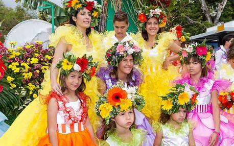 Květinové slavnosti na Madeiře, Portugalsko, letecky, polopenze