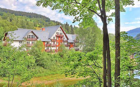 Proslulý Špindlerův Mlýn v zimě i létě v apartmánu přímo u Labské přehrady a sjezdovky