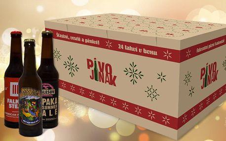 Vánoční pivní box: 24 láhví prémiového piva