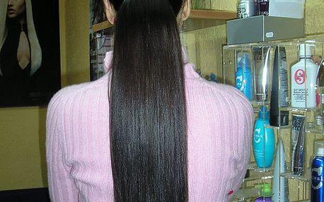 Kadeřnictví: prodloužení a zahuštění pravými vlasy 40-60 cm