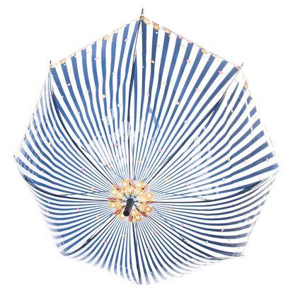 Dámské deštník pruhovaný s drobnými kvítky