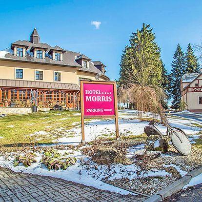 Mariánské Lázně v přepychovém Golf Hotelu Morris**** s wellness, procedurami i golfem a polopenzí + dítě do 11,9 let zdarma