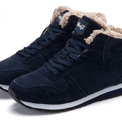 Pánské zimní boty s kožíškem - 2 barvy