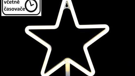 Nexos 57400 Vánoční dekorativní osvětlení - neonová hvězda - 120 LED teple bílá