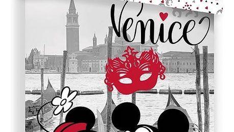 Jerry Fabrics Dětské bavlněné povlečení Mickey and Minnie in Venice, 140 x 200 cm, 70 x 90 cm