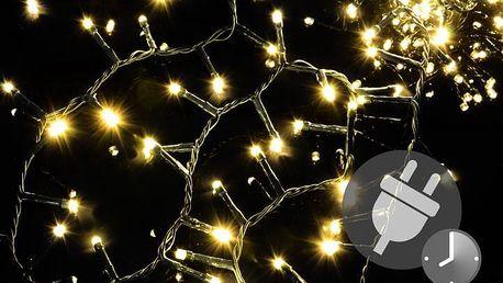 Nexos 47230 Vánoční LED osvětlení 750 diod - bohatý řetěz - teple bílá 15 m