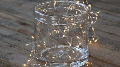 Chic Antique LED světelný řetěz Soft White 220 cm, čirá barva, plast