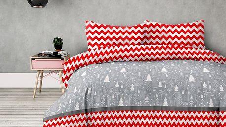 AmeliaHome Flanelové povlečení Christmas mess, 140 x 200 cm, 70 x 90 cm