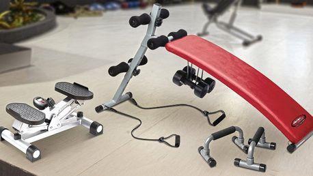 Madla na kliky, benchová lavice i posilovač hýždí