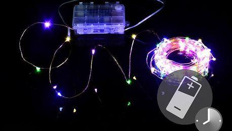 Nexos 41711 LED osvětlení - měděný drát - 100 LED barevné