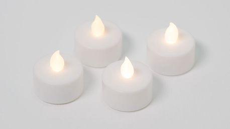 Nexos 42988 Dekorativní sada - 4 čajové svíčky - bílá