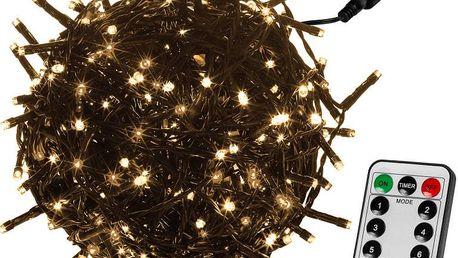 VOLTRONIC® 59747 Vánoční LED osvětlení 40 m - teple bílá 400 LED + ovladač - zelený kabel