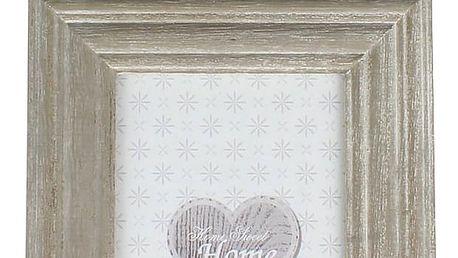 Závěsný fotorámeček béžová, 10 x 15 cm