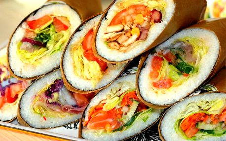 Když Japonsko miluje Mexiko: sushi burrito menu